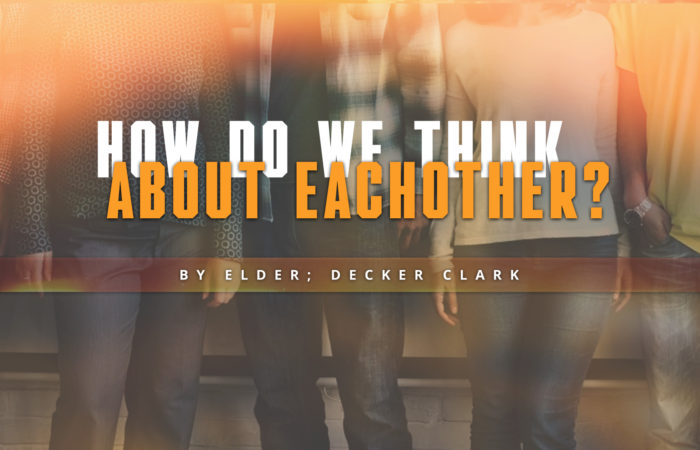 How Do We Think About Each Other? - 12/23/2018
